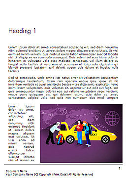 World Taxi Service Word Template, First Inner Page, 14838, Cars/Transportation — PoweredTemplate.com