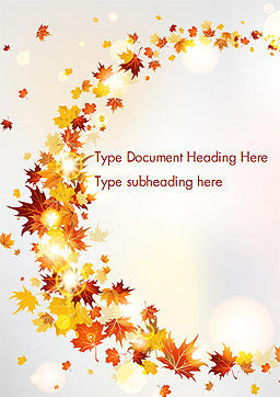 Autumn Leaves and Sunbeams Word Template Cover Page