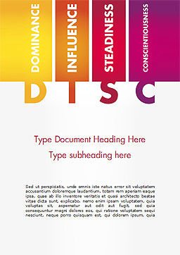 DISC Personality Word Template, Cover Page, 14846, Consulting — PoweredTemplate.com