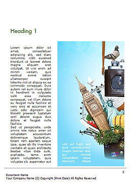 Time to Travel Word Template, First Inner Page, 14848, Careers/Industry — PoweredTemplate.com