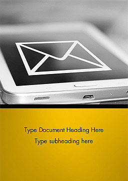 Email Icon on Smartphone Word Template Cover Page