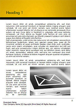 Email Icon on Smartphone Word Template First Inner Page