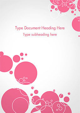 Pink Bubbles and Circles Background Word Template, Cover Page, 14850, Careers/Industry — PoweredTemplate.com