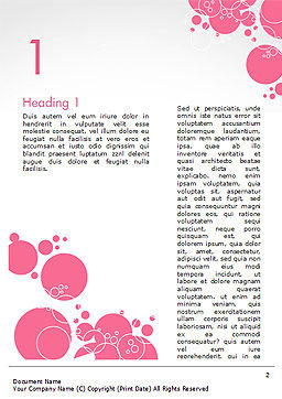 Pink Bubbles and Circles Background Word Template, First Inner Page, 14850, Careers/Industry — PoweredTemplate.com