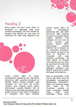 Pink Bubbles and Circles Background Word Template, Second Inner Page, 14850, Careers/Industry — PoweredTemplate.com