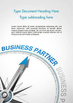 Finding Business Partner Concept Word Template, Cover Page, 14853, Business Concepts — PoweredTemplate.com