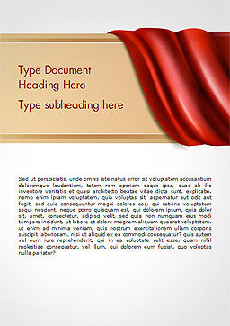 Drapery Word Template, Cover Page, 14854, 3D — PoweredTemplate.com