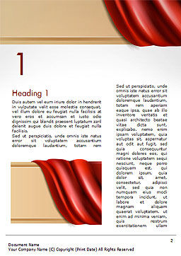 Drapery Word Template First Inner Page