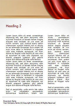 Drapery Word Template, Second Inner Page, 14854, 3D — PoweredTemplate.com