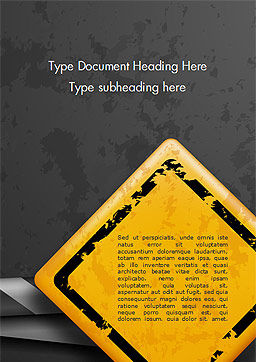 Warning Road Sign Word Template, Cover Page, 14855, Careers/Industry — PoweredTemplate.com