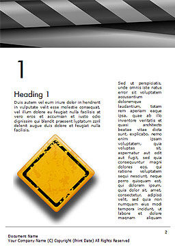Warning Road Sign Word Template, First Inner Page, 14855, Careers/Industry — PoweredTemplate.com