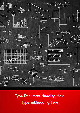 Math Equations on Chalkboard Word Template Cover Page