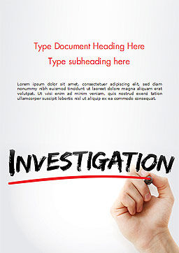 A Hand Writing Investigation Word Template Cover Page