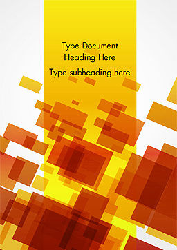 Red an Yellow Overlapping Squares Word Template, Cover Page, 14859, Abstract/Textures — PoweredTemplate.com