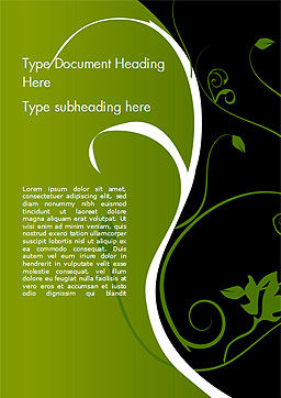 Florid Green Frame Word Template Cover Page