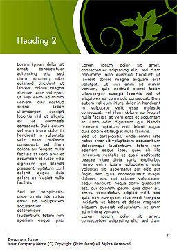 Florid Green Frame Word Template, Second Inner Page, 14861, Art & Entertainment — PoweredTemplate.com