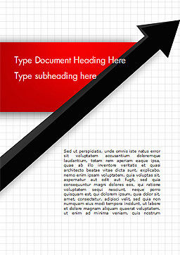 Diagonal Arrow Word Template, Cover Page, 14865, Business Concepts — PoweredTemplate.com