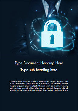 Data Protection Officer Word Template, Cover Page, 14868, Technology, Science & Computers — PoweredTemplate.com