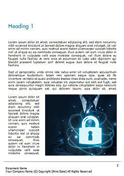 Data Protection Officer Word Template, First Inner Page, 14868, Technology, Science & Computers — PoweredTemplate.com