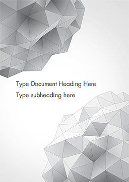 Light Gray Triangular Polygons Word Template, Cover Page, 14869, Technology, Science & Computers — PoweredTemplate.com