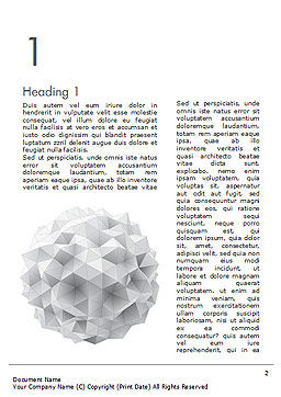 Light Gray Triangular Polygons Word Template, First Inner Page, 14869, Technology, Science & Computers — PoweredTemplate.com