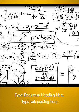 Math Education Background Word Template, Cover Page, 14873, Technology, Science & Computers — PoweredTemplate.com