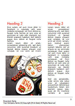Cooking a Breakfast Word Template, Second Inner Page, 14874, Food & Beverage — PoweredTemplate.com
