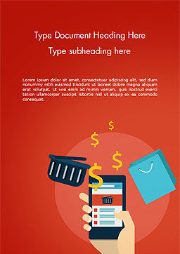 E-Commerce Development Word Template Cover Page