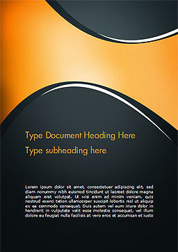 Black and Orange Abstract Background Word Template Cover Page