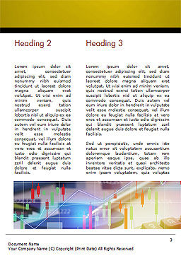 Finance and Banking Concept Word Template Second Inner Page