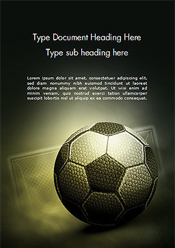 Soccer Ball Word Template, Cover Page, 14884, Sports — PoweredTemplate.com