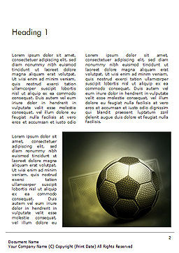 Soccer Ball Word Template, First Inner Page, 14884, Sports — PoweredTemplate.com