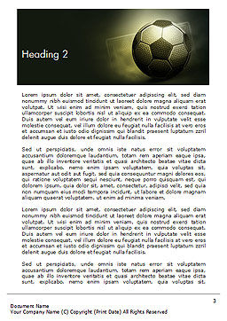 Soccer Ball Word Template, Second Inner Page, 14884, Sports — PoweredTemplate.com