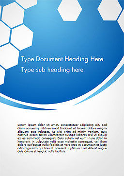 Flat Hexagons Abstract Background Word Template Cover Page