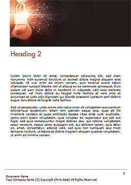 Network Security Protection Word Template Second Inner Page