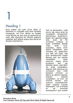 Rocket Ship is Ready to Launch Word Template First Inner Page