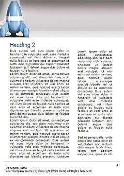 Rocket Ship is Ready to Launch Word Template Second Inner Page