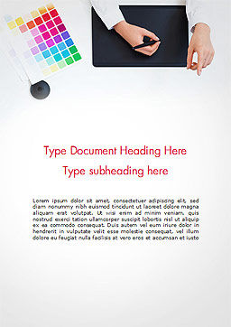 Graphic Designer at Work Word Template, Cover Page, 14893, Careers/Industry — PoweredTemplate.com