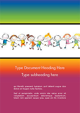 Happy Children's Day Word Template, Cover Page, 14898, Education & Training — PoweredTemplate.com
