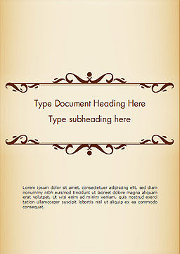 Calligraphy Frame Word Template Cover Page