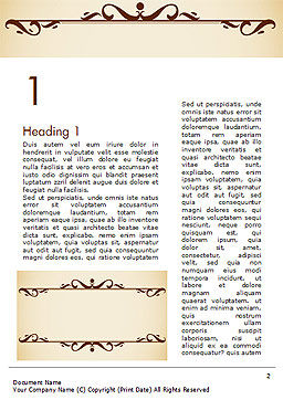 Calligraphy Frame Word Template First Inner Page