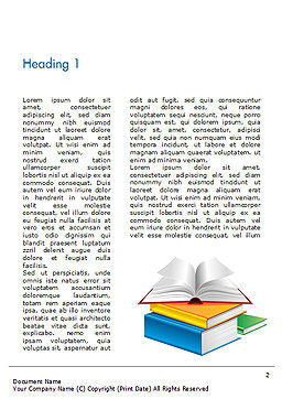Books Word Template, First Inner Page, 14906, Education & Training — PoweredTemplate.com