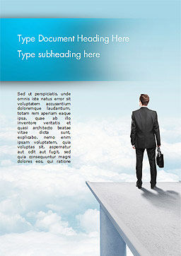 Businessman Standing on Pier Word Template, Cover Page, 14907, Business Concepts — PoweredTemplate.com