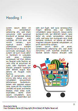 Shopping Trolley of Food Word Template, First Inner Page, 14913, Careers/Industry — PoweredTemplate.com