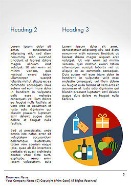 Shopping Trolley of Food Word Template, Second Inner Page, 14913, Careers/Industry — PoweredTemplate.com
