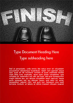 Mission Complete Concept Word Template, Cover Page, 14917, Business Concepts — PoweredTemplate.com