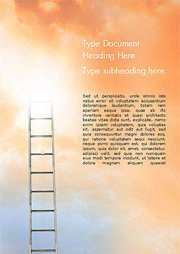 Ladder to The Sky Word Template, Cover Page, 14919, Religious/Spiritual — PoweredTemplate.com