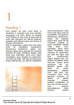 Ladder to The Sky Word Template, First Inner Page, 14919, Religious/Spiritual — PoweredTemplate.com