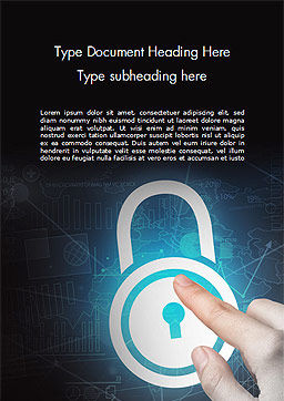Crypto-Padlock Word Template, Cover Page, 14922, Technology, Science & Computers — PoweredTemplate.com