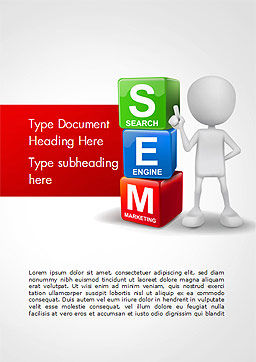 Search Engine Marketing Word Template, Cover Page, 14923, Careers/Industry — PoweredTemplate.com